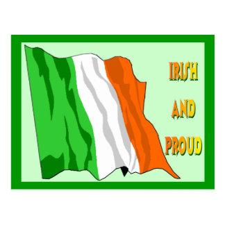 St Patrick's Day Irish Flag Postcard