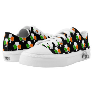 St Patrick's Day | Irish Flag Shamrock Low-Top Sneakers