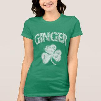 St Patricks Day Irish Ginger Shamrock T-shirt
