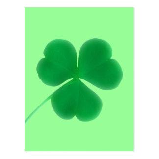 St. Patrick's Day Irish Green Clover Postcard