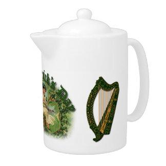St. Patrick's Day Irish Harp - Tea Pot 1