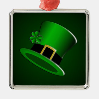 St Patrick's Day Irish Hat Premium Square Ornament
