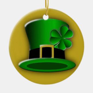 St Patrick's Day Irish Hat Standard Round Ornament