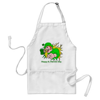 St Patrick's Day Irish Lad with Green Beer Aprons