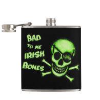 St. Patrick's Day Irish Pirate Flask