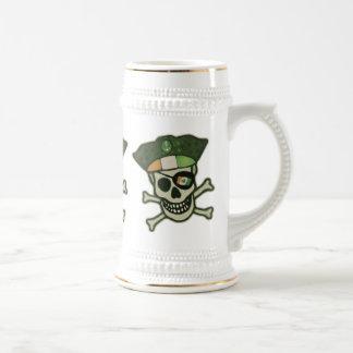 St. Patrick's Day Irish Pirate Mug / Stein Beer Stein