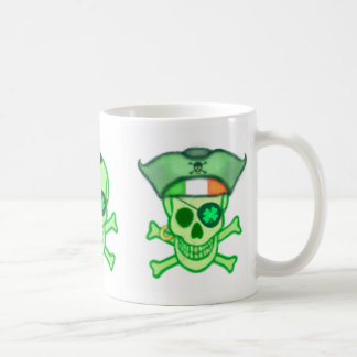 St. Patrick's Day Irish Pirates Coffee Mugs