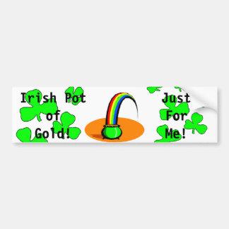 St. Patrick's Day Irish Pot of Gold  Bumper Sticke Bumper Sticker