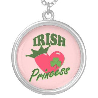 St Patricks Day Irish Princess Silver Plated Necklace