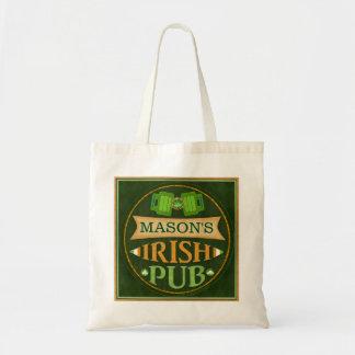 St. Patrick's Day Irish Pub Custom Tote Bag Budget Tote Bag