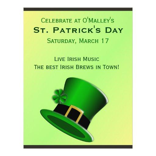 St Patrick's Day Irish Pub Flyer