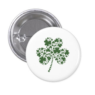 St Patrick's Day Irish Shamrock Clover Button