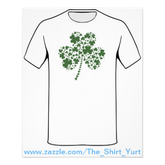 St Patrick's Day Irish Shamrock Clover Flyer