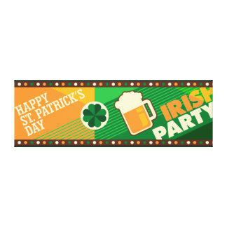 St Patrick's Day Irish Shamrock Party Canvas Print
