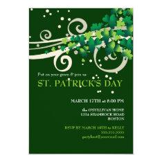 St. Patricks Day Irish Shamrock Party Invitation at Zazzle