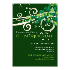 St. Patricks Day Irish Shamrock Party Invitation at Zazzle