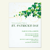 St. Patricks Day Irish Shamrock Party Invitation