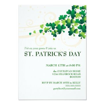 kat_parrella St. Patricks Day Irish Shamrock Party Invitation