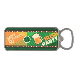St Patrick's Day Irish Shamrock Party Magnetic Bottle Opener