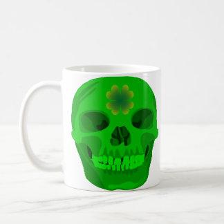 St Patrick's Day Irish Shamrock Skull Coffee Mug
