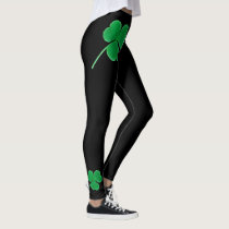 St. Patrick's Day   Irish Shamrocks Green Clovers Leggings