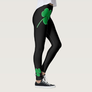St. Patrick's Day | Irish Shamrocks Green Clovers Leggings