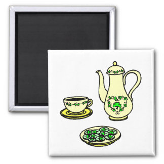 St. Patrick's Day Irish Tea Set Magnet