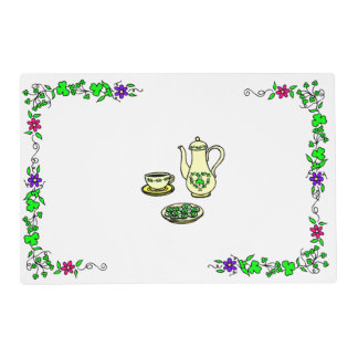 St. Patrick's Day Irish Tea Set Placemat