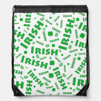 St Patrick's Day Irish Typography Collage Pattern Backpack