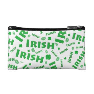 St Patrick's Day Irish Typography Collage Pattern Cosmetics Bags
