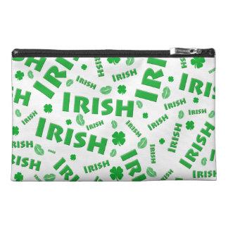 St Patrick's Day Irish Typography Collage Pattern Travel Accessory Bag