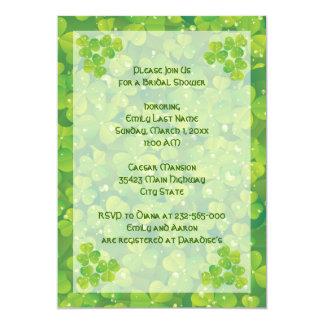 St. Patrick's Day Irish wedding bridal shower 5x7 Paper Invitation Card