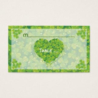 St. Patrick's Day Irish wedding place card