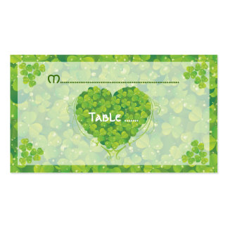 St. Patrick's Day Irish wedding place card Double-Sided Standard Business Cards (Pack Of 100)