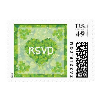 St. Patrick's Day Irish wedding RSVP stamp