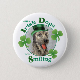St. Patrick's Day Irish Wolfhound Button