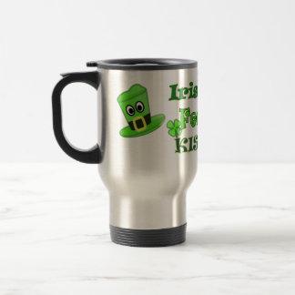 St Patricks Day - Irish you Feckin Kiss Me Travel Mug