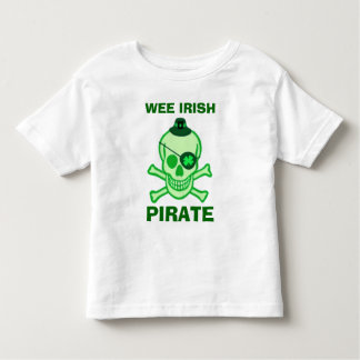 St. Patrick's Day Kid's Pirate Skull T-Shirt