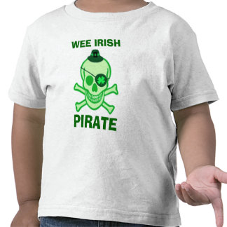 St. Patrick's Day Kid's Pirate Skull T-Shirt
