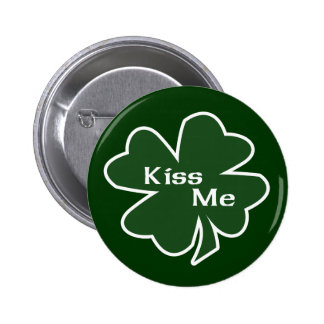 St. Patrick's Day Kiss Me Buttons