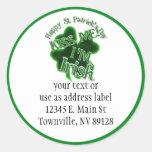 St Patrick's Day  - Kiss Me, I'm Irish! Classic Round Sticker
