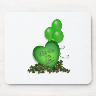 St Patricks Day Kiss me Im Irish Balloons Mouse Pad
