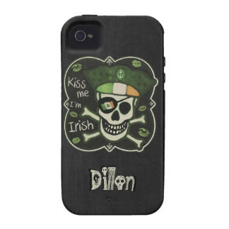 St. Patrick's Day Kiss Me I'm Irish Pirate Case For The iPhone 4