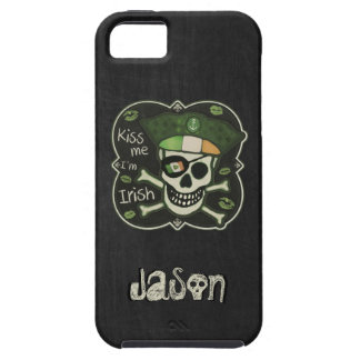 St. Patrick's Day Kiss Me I'm Irish Pirate iPhone 5 Cases