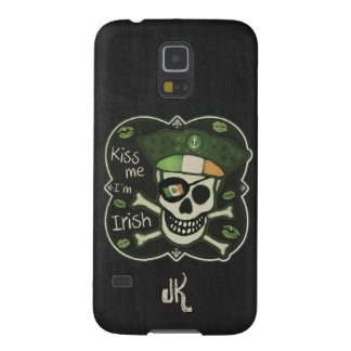 St. Patrick's Day Kiss Me I'm Irish Pirate Galaxy S5 Cover