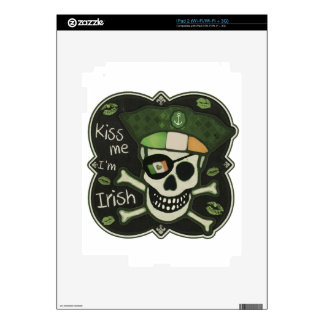 St. Patrick's Day Kiss Me I'm Irish Pirate Decal For The iPad 2