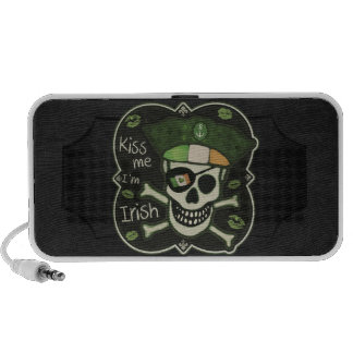 St. Patrick's Day Kiss Me I'm Irish Pirate Laptop Speaker