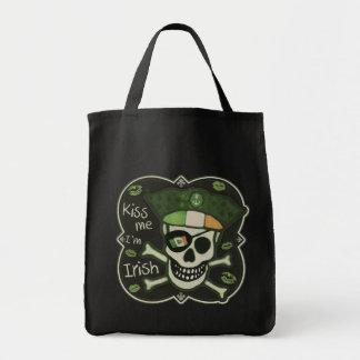 St. Patrick's Day Kiss Me I'm Irish Pirate Tote Bag