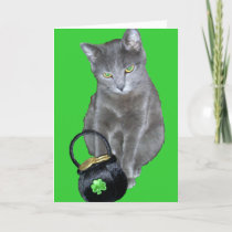 St. Patrick's Day kitten card