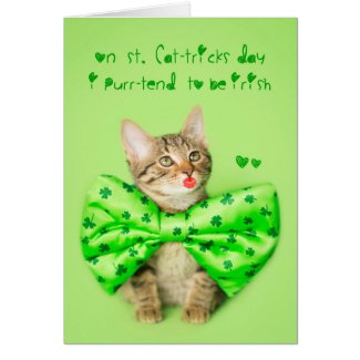 St. Patricks Day Kitten Kisses